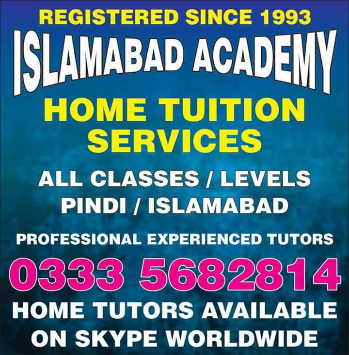 Islamabad Academy Home Tuition Services